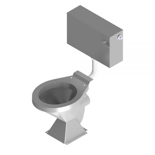 B17642 Floor Mounted Pedestal WC Pan With Cistern