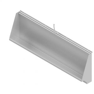 B17730 Wall Mounted Trough Urinal With Exposed Sparge Pipe