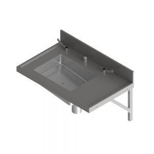 B22380 Wall Mounted Bedpan Sluice Sink