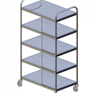 E26155B5T Five Tier Stainless Steel Tea Trolley