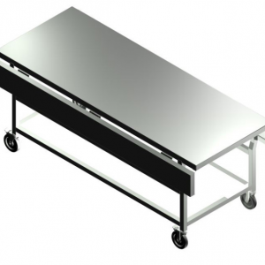 H722202000E Heavy Duty Dressing & Embalming Trolley With Extended Top