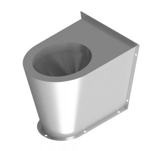 B17652 Secure Shrouded Waste Back-To-Wall WC Pan