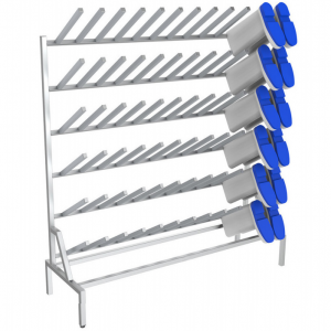 B38136 Free Standing Single-Sided Stainless Steel Boot Rack