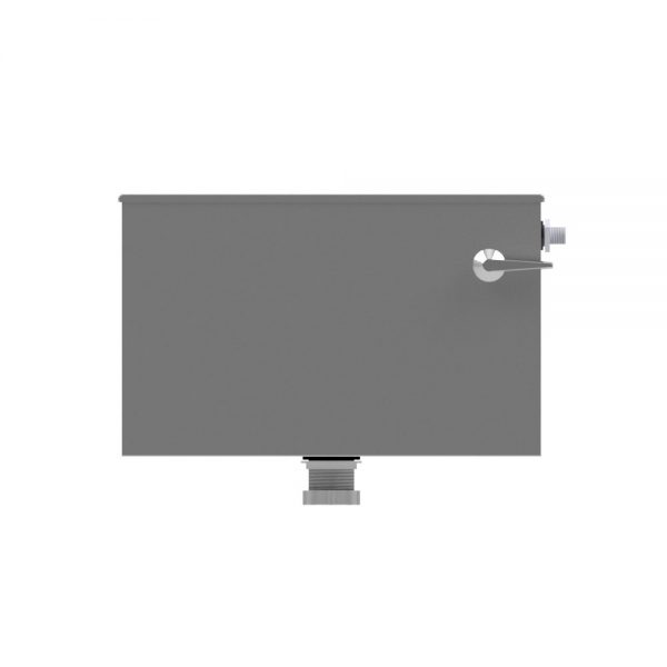 B17110 Lever Flush Low Level Stainless Steel Cistern (Front View)