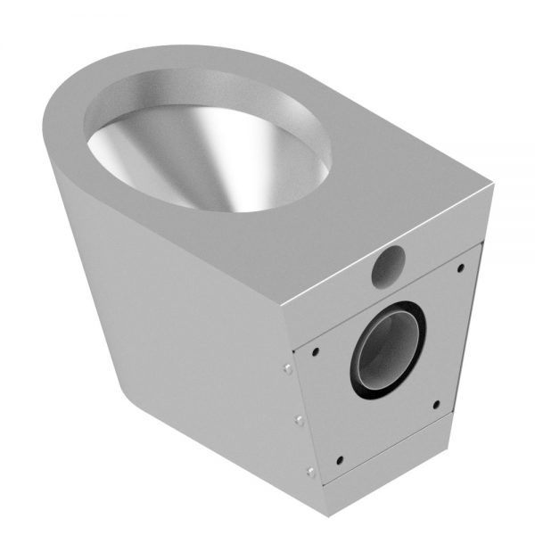 B17654 Wall Mounted Shrouded Waste WC Pan (Rear View With Wall Mounting Bracket)