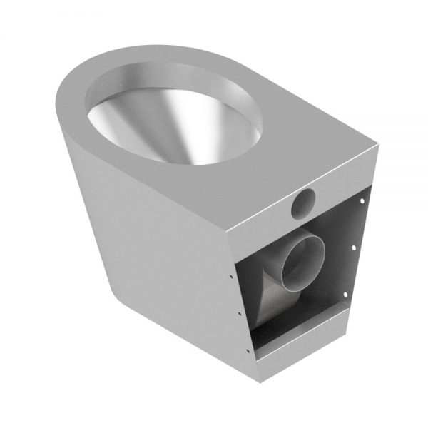 B17654 Wall Mounted Shrouded Waste WC Pan (Rear View)