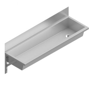 B34673 Wall Mounted Stainless Steel Wash Trough