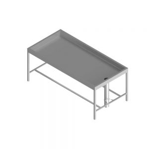 H72446 Stainless Steel Muslim Ghusl Washing Table