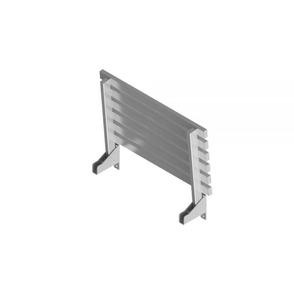 B22315 Wall Mounted Foldable Slatted Shower Seat (Folded Position)