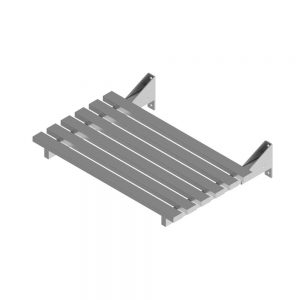 B22315 Wall Mounted Foldable Slatted Shower Seat