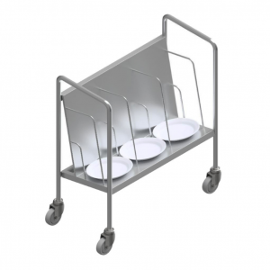 E26159 Stainless Steel Plate Stacking Trolley