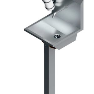 B36650 Pedestal Mounted Wash Hand Basin With Hand Sanitizer Dispenser